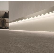 Плинтус алюминиевый со светодиодной подсветкой Metal Line S – XL Design