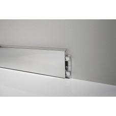 Плинтус алюминиевый на клипсе 70мм Италия