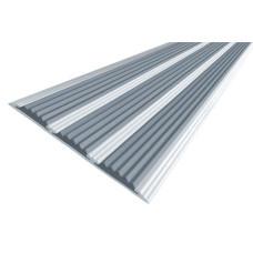 Порог алюминиевый анодированный с тремя резиновыми вставками ПА-100